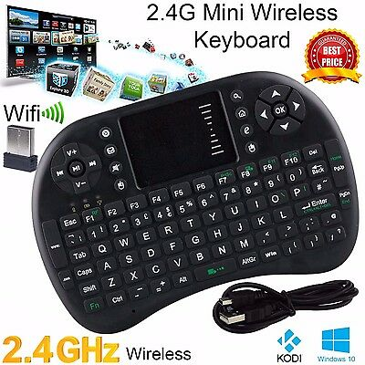 2.4G Wireless Mini Keypad Keyboard Touchpad for XBMC HDTV PC KODI Raspberry Pi