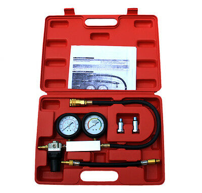 Cylinder Leak Detector Leakage Leak down Engine Compression Tester Gauges TU-21