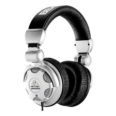 Behringer HPX2000 Dynamic DJ Headphones Silver/Black with Rotating Ear Cups