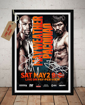Floyd Mayweather Vs Manny Pacquiao May 2015 Autographed Signed Photo Print