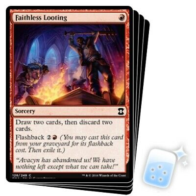 FAITHLESS LOOTING X4 Eternal Masters Magic MTG MINT CARD