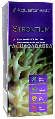 AQUAFOREST STRONTIUM SKELETAL STRENGTH & BRANCHING SOFT CORAL CLAMS 50ml 10ml