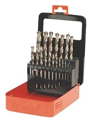 Sealey AK4701 HSS Cobalt Split Point Fully Ground Drill Bit Set 19pc Metric