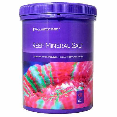 AQUAFOREST REEF MINERAL SALT 800g MAINTAIN CONSTANT LEVEL CORAL REEF MARINE TANK