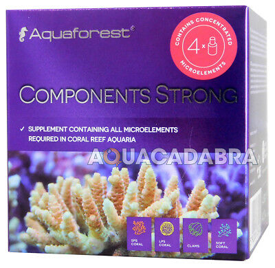 Aquaforest Components Strong Set Microelement Supplement Coral Reef Aquarium