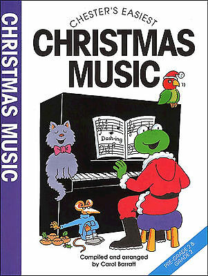 Chesters Easiest Christmas Music Piano Sheet Music Book Easy Songs Carols