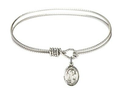 Sharbel Charm On A 7 Inch Oval Eye Hook Bangle Bracelet St
