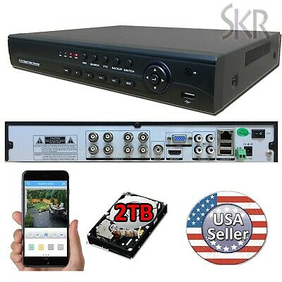 Sikker 8 Ch Channel Full AHD-H 1080P high definition DVR Recorder System 2TB HDD