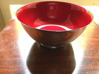 Reed & Barton #104 Red Silverplated Ware Bowl