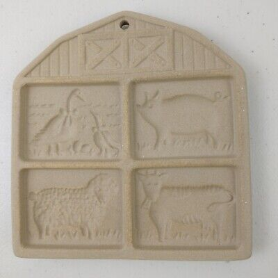 The Pampered Chef Cookie Mold Art 1994 Farmyard Friends Stoneware Vintage