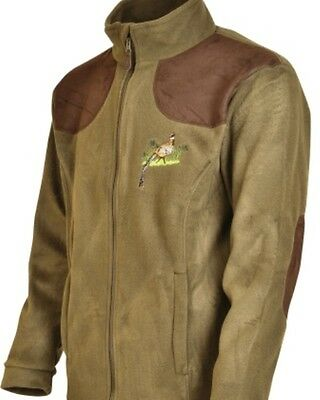 Percussion Green Pheasant embroidered Shooting Fleece jacket, Shooting, Hunting