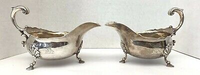 An Important 1753 Pair George Ii Sterling Sauce Boats Circa By William Grundy