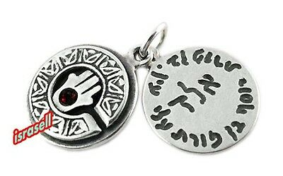 EVIL EYE PROTECTION PENDANT WITH HAMSA - Happiness Health Israel charm luck gift