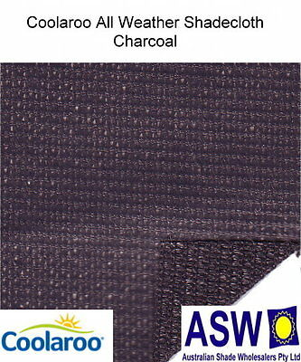 1.83m wide ALL WEATHER SHADECLOTH CHARCOAL Waterproof Coated Shade Cloth