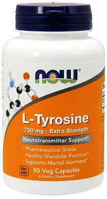New - Now Foods Tyrosine 750 mg 90 Caps