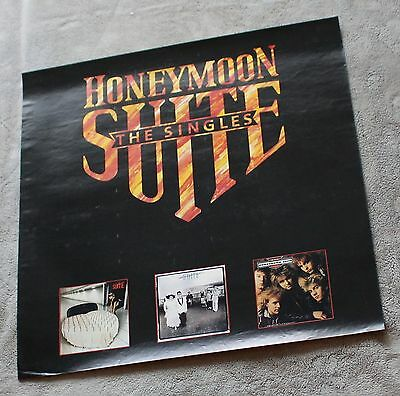 Honeymoon Suite Singles 1987 3 Pix Warner Records GLAM Metal PROMO Poster VGEX