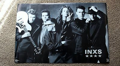 INXS III Group 1989 Australia Great Southern Funky B&W ROCK Poster #3220 EX C8