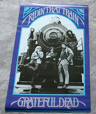 Grateful Dead 1990 Casey Jones Ridin that Train Jerry Garcia Music Poster VGEX