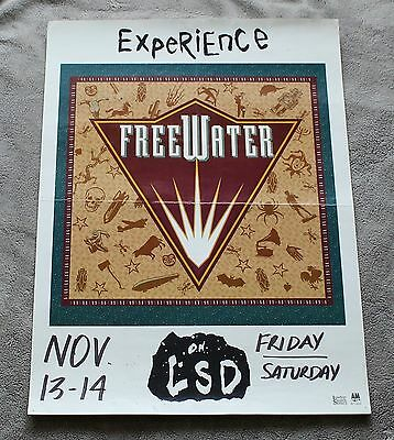 FreeWater on LSD Experience 1990s A&M London Smith PROMO Concert Poster VG C6