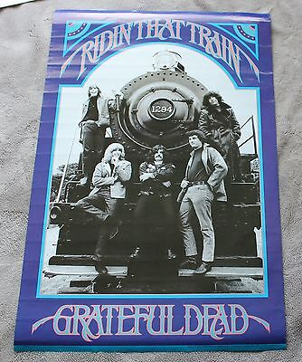 Grateful Dead 1990 Casey Jones Ridin that Train Jerry Garcia Music Poster VG C6