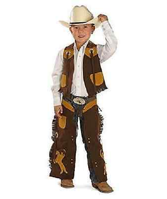 Brown ~COWBOY VEST & CHAPS~ Faux Suede & Fringe - Rodeo Rider-Set or Separate