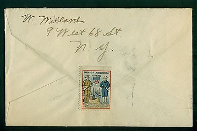 1918 Junior American Guard America First Poster Stamp on Cover