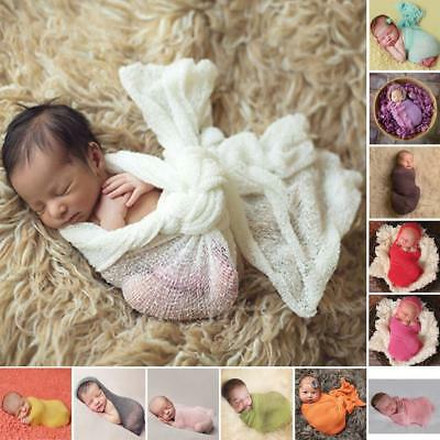 Newborn Baby Mohair Crochet Knit Wrap Cloth Photography Props Baby Photo Cute