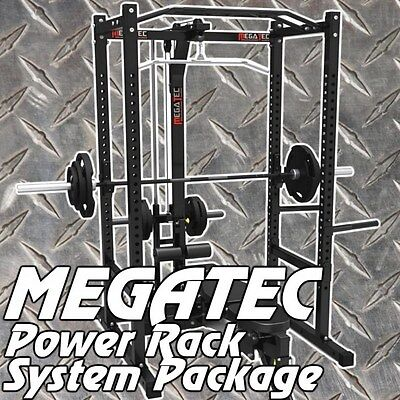 MEGATEC Power Rack System Package + IRONMASTER  Super Bench