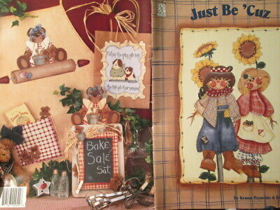 Just Be 'Cuz Painting Book Scarecrows, Children, Sailboat, Dog House Drummer Boy