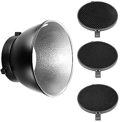 "Neewer 16.8cm Honeycomb Grid Set with 7"" Reflector Diffuser for Bowens Mount"