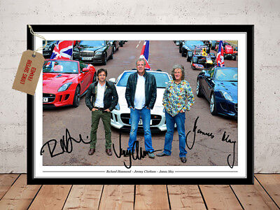 Jeremy Clarkson James May Richard Hammond Top Gear Autograph Signed Photo