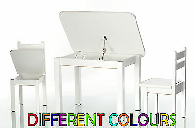 Children's Table with 2 Chairs Wooden  Wood Kids Furniture Set Toddlers Childs