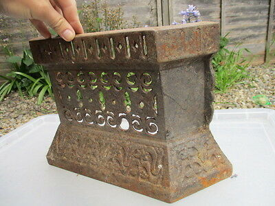 Antique Iron Fire Front Grate Grill Fender Fireplace 1904 Edwardian Tidy Betty