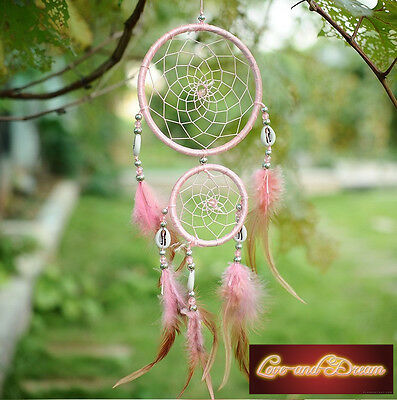 Attrape rêve traditionnel rose | Dreamcatcher Traditional Pink