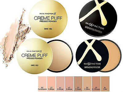 Max Factor Creme Puff Pressed Powder / Bronzer Brand New **choose Shade**