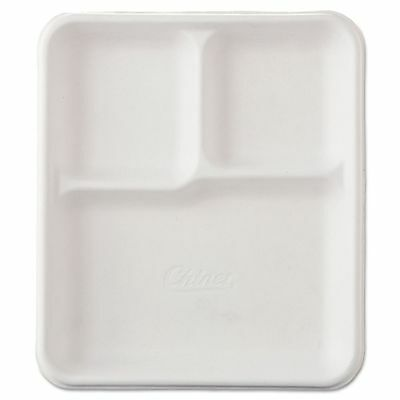 Chinet Heavy-Weight Molded Fiber Cafeteria Trays  - HUH22023