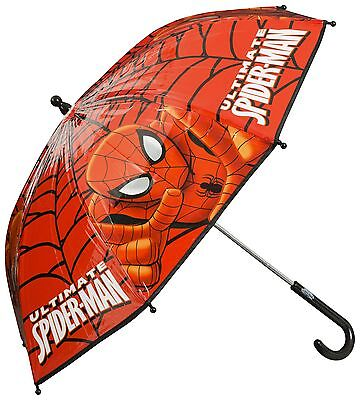 Spider Man Boys Red Umbrella Kids School Bubble Brolly Gift Dome Windproof Rain
