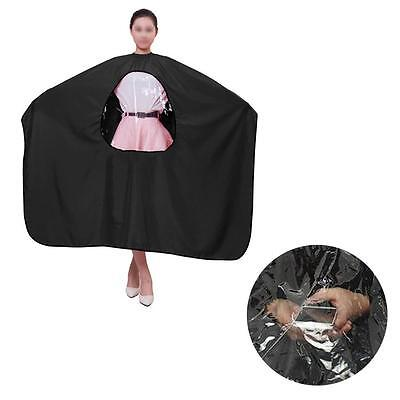 Salon Barber Waterproof Hair Cutting Viewing Window Hairdresser Cape Gown Cloth