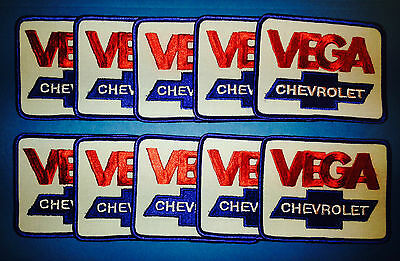10 Lot Vintage 1970's Chevy Vega Chevrolet Sew On Car Club Jacket Hat Patches