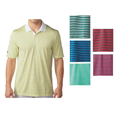New 2016 Adidas Golf Tournament 3-Color Stripe Polo Shirt - Pick Size & Color