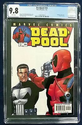 Deadpool #54 Cgc 9.8 New Holder White Pages Vs Punisher! Rare In This Grade