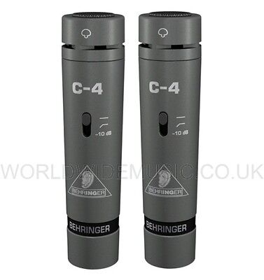 A Pair of Matched Behringer C-4 Studio Condenser Microphones