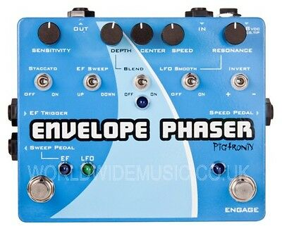 Pigtronix Envelope Phaser - Envelope & Rotary Phaser Effects Pedal / Stomp Box