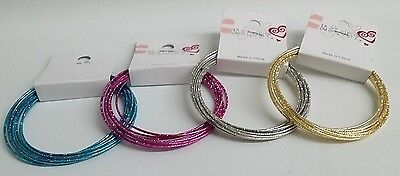 NEW Kids BK5085 WEDDING Flowergirl PAGEANT 4PC LOT SET Bangle Bracelet Accessory