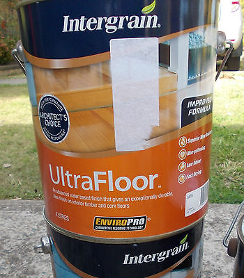Intergrain ULTRAFLOOR 4 Litre cans in SATIN,GLOSS water based