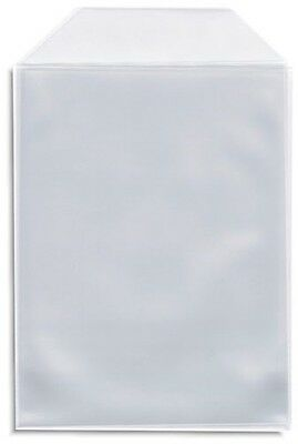 200 Clear CPP Plastic DVD Sleeves with Flap for 14mm DVD Box Arwork & Disc