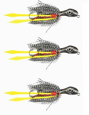 3 Esche Artificiali Per Kabura - Vertical Light Jigging - Jig Esca Seppia  Mare