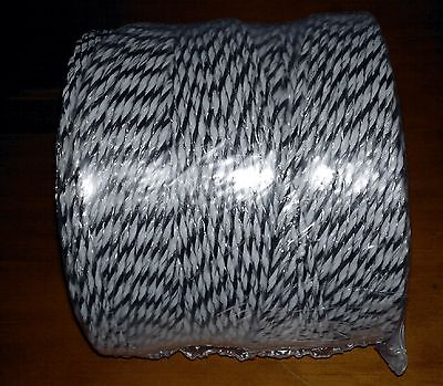 Poly Wire / Poly Rope / Temp. Fencing 400M 3 strands - 9 x stainless steel 0.2mm