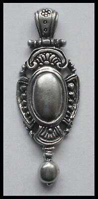 PEWTER CHARM #1437 NECKLACE PIECE (50mm x 18mm) large bail Vintage Look