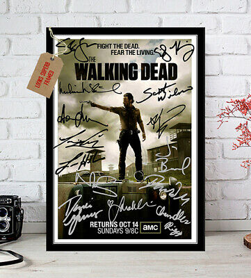 Andrew Lincoln The Walking Dead 14 Cast Autographs Signed Photo Print 12X8